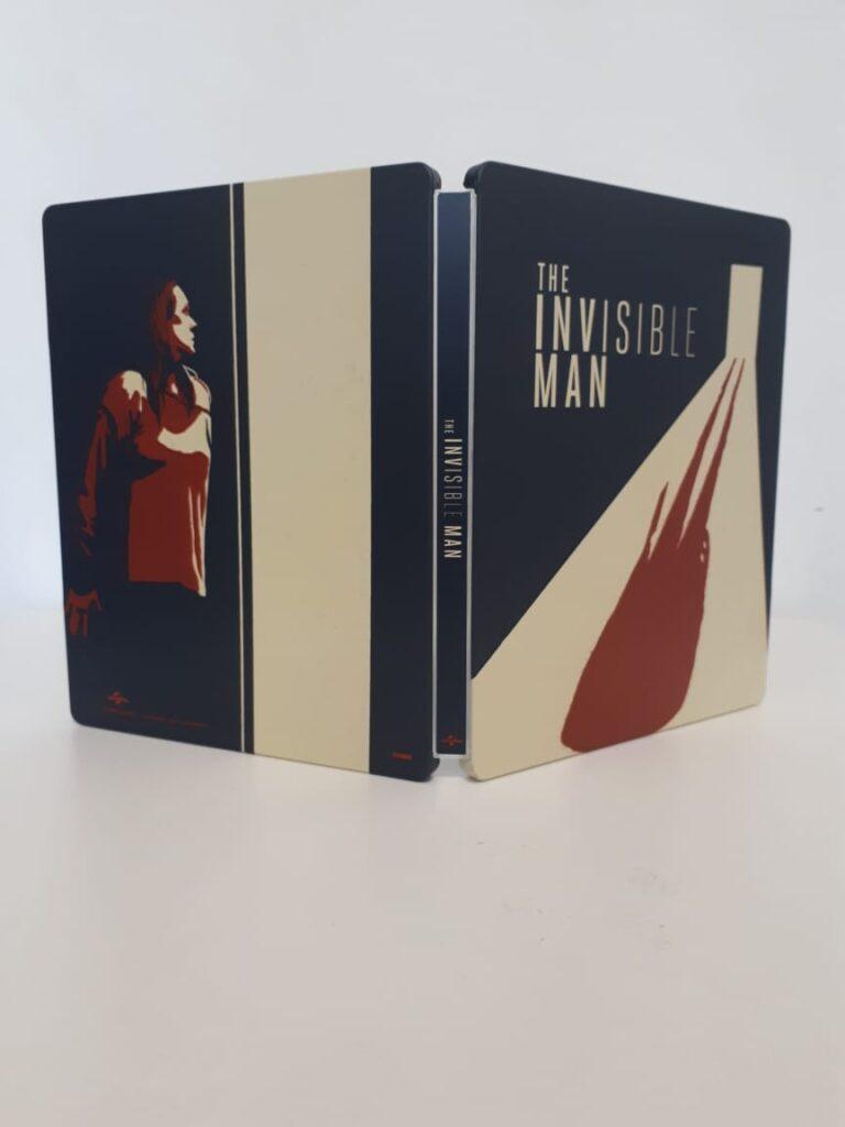 Steelbook blu-ray de O Homem Invisível - horror estrelado por Elisabeth Moss e produzido por Blumhouse